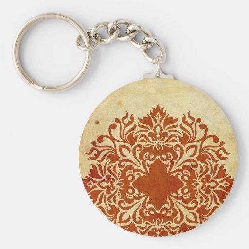 India Burnt Sunset Keychain