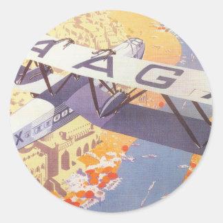 India by Imperial Airways Round Sticker