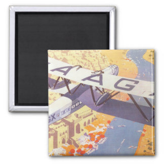 India by Imperial Airways Square Magnet