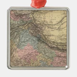 India Central Asia Silver-Colored Square Decoration