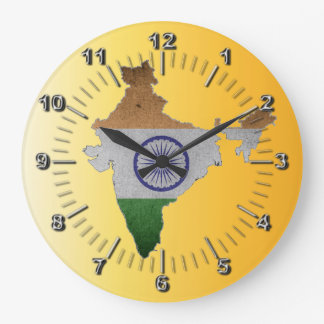 india country flag large clock
