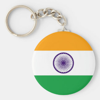 India country long flag nation symbol republic basic round button key ring