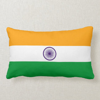 India country long flag nation symbol republic lumbar cushion