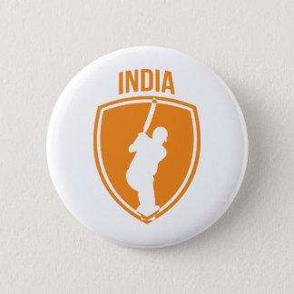 India Cricket Crest 6 Cm Round Badge