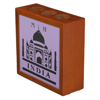 INDIA custom monogram & color desk organizer