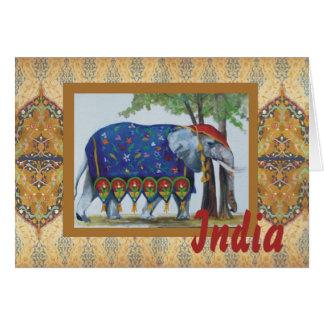 India Elephant card #1