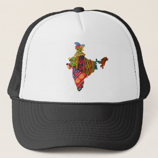 India Embroidery Map Hat