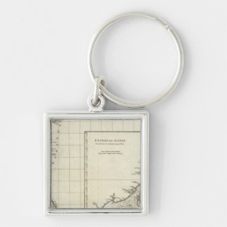 India Engraved Map Key Ring