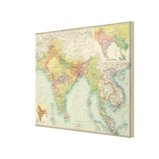 India & Farther India political Canvas Print