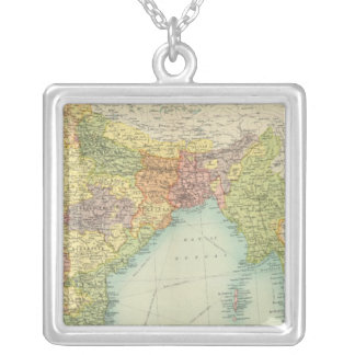 India & Farther India political Silver Plated Necklace