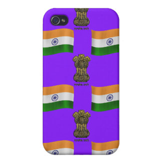 India Flag and Crest iPhone 4 Case