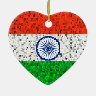 India Flag glitter ornament