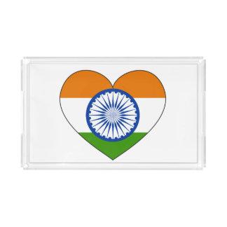 India Flag Heart Acrylic Tray