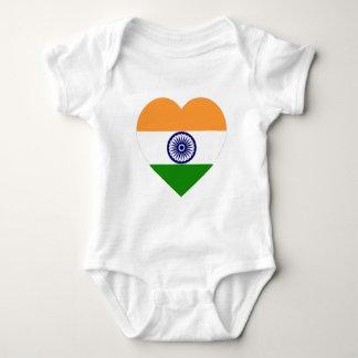 India Flag Heart Baby Bodysuit