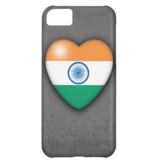 India Flag Heart on mono background. iPhone 5 iPhone 5C Case