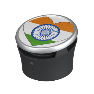 India Flag Heart Speaker
