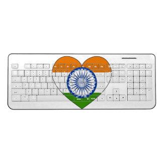 India Flag Heart Wireless Keyboard