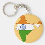 India flag map key chains