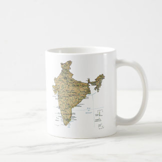 India Flag Map Mug