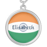India Flag + Name Necklace