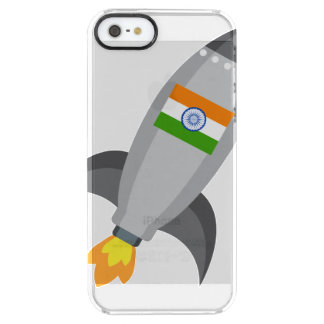 India Flag Rocket Clear iPhone SE/5/5s Case
