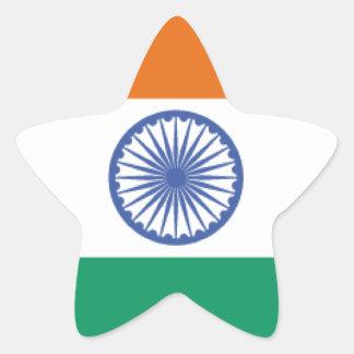 India Flag Star Sticker