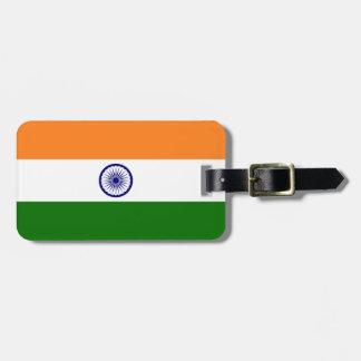India Flag Travel Bag Tag
