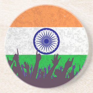 India Flag with Audience Coaster