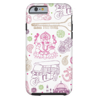 India ganesha yoga art iPhone 6 case Tough iPhone 6 Case