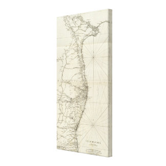 India Geographical Map Canvas Print