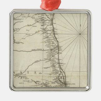 India Geographical Map Christmas Ornament