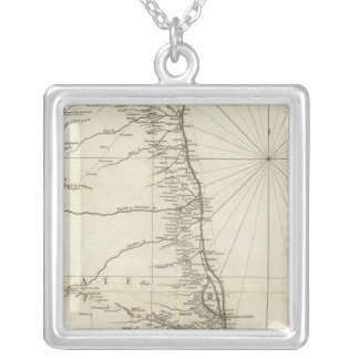 India Geographical Map Silver Plated Necklace