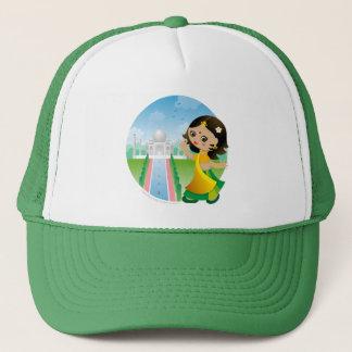 India girl trucker hat