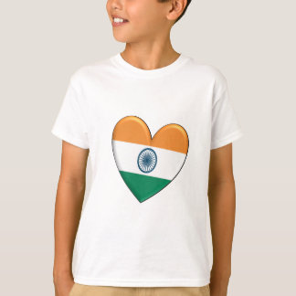 India Heart Flag T-Shirt