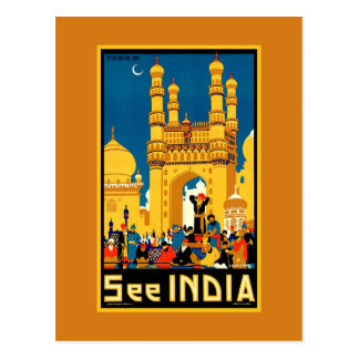 India Hyderabad Vintage travel Postcard