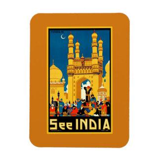 India Hyderabad Vintage travel Rectangular Photo Magnet