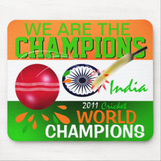 India ICC We Are the Champions Cricket Mousepad