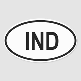 "India ""IND"" Oval Sticker"