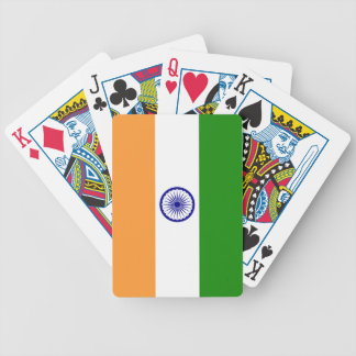 India; Indian Flag Bicycle Playing Cards
