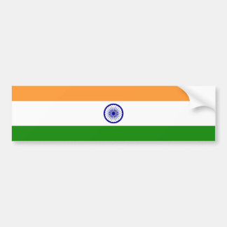 India/Indian Flag Bumper Sticker