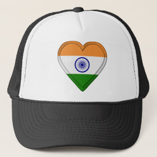India Indian Flag Trucker Hat