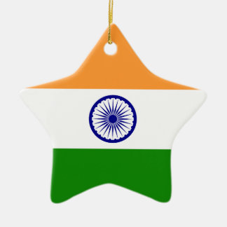 India – Indian National Flag Ceramic Star Decoration