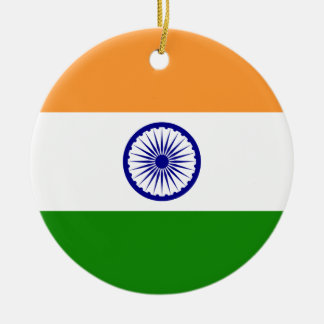 India – Indian National Flag Christmas Ornament