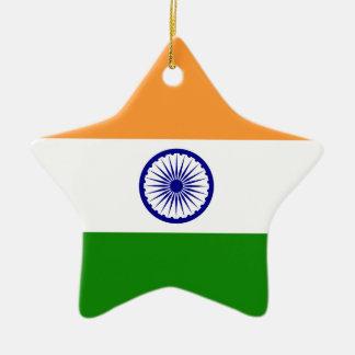 India – Indian National Flag Christmas Ornament