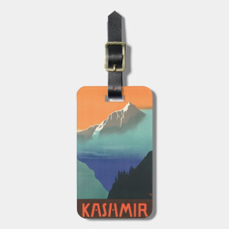 India (Kashmir) Travel Poster custom luggage tag