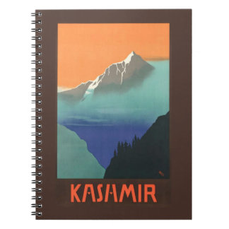 India (Kashmir) Travel Poster notebook