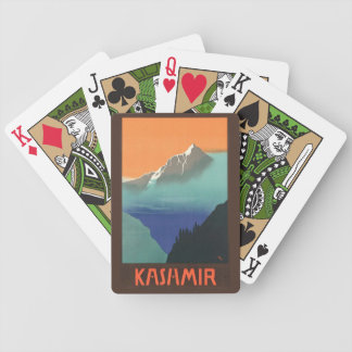 India (Kashmir) Travel Poster playing cards