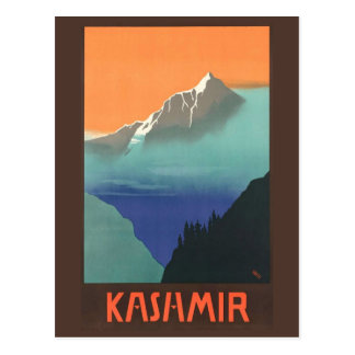 India (Kashmir) Travel Poster postcard