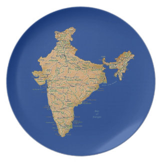 India Map Plate