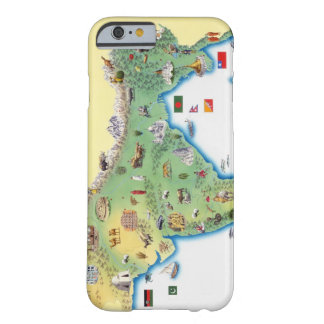 India, map with illustrations showing barely there iPhone 6 case